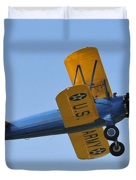 U.s.army Biplane Duvet Cover by David Lee Thompson