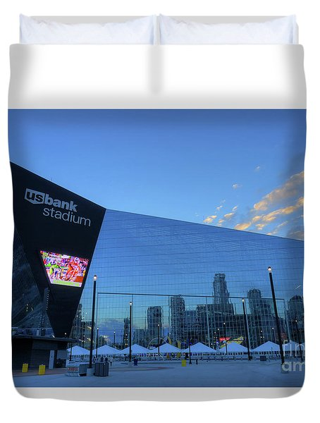 Usbank Stadium Morning Duvet Cover