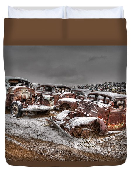 Used Up Duvet Cover