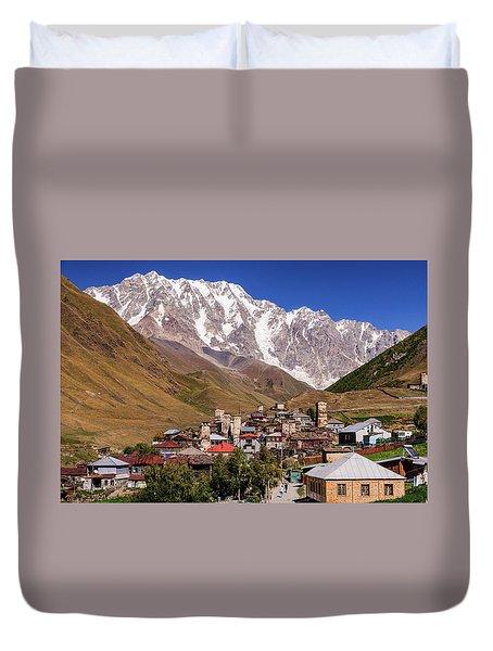 Ushguli And  Shkhara Mount Duvet Cover