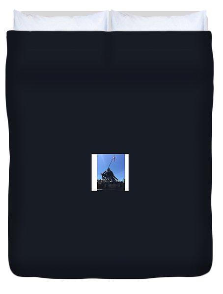 Usmc War Memorial Duvet Cover