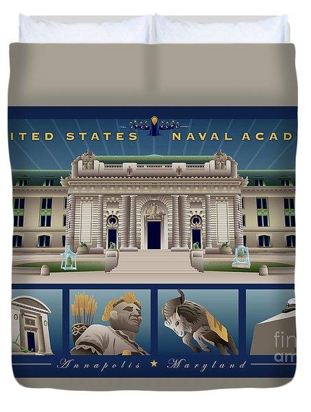 Usna Monuments Tribute 2 Duvet Cover
