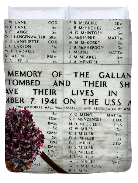 U.s.s. Arizona Memorial Duvet Cover