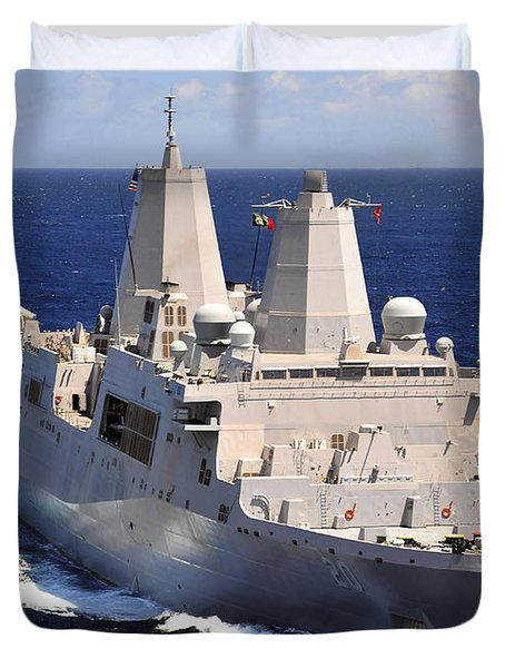 Uss Green Bay Transits The Indian Ocean Duvet Cover by Stocktrek Images