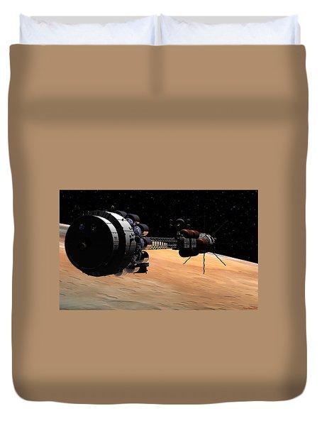 Uss Hermes 1 In Orbit Duvet Cover