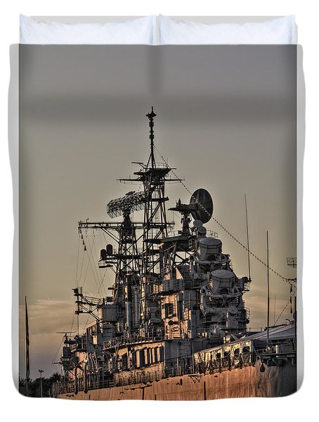 U.s.s Little Rock Duvet Cover
