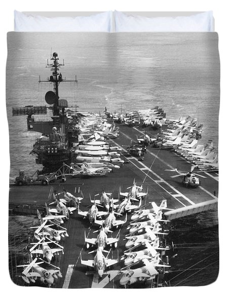Uss Midway Leaves Sf Duvet Cover