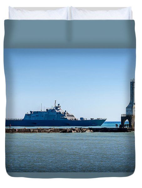 Uss Milwaukee Duvet Cover