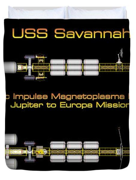 Uss Savannah Profile Duvet Cover