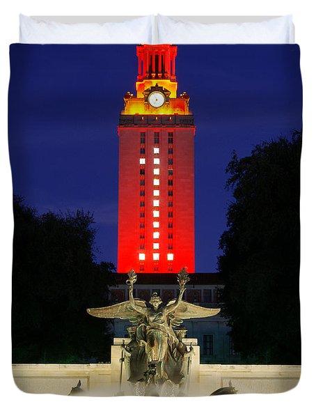 Ut Austin Tower Orange Duvet Cover