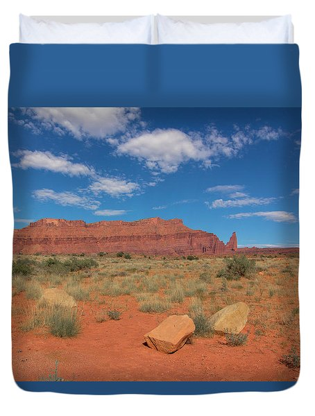 Duvet Cover featuring the photograph Utah Canyons by Heidi Hermes