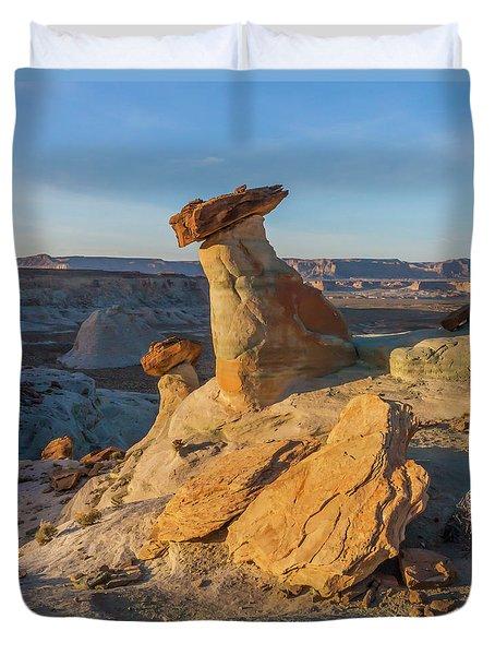Utah Hoodoos At Sunset Duvet Cover