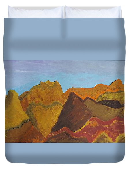 Utah Mountains Duvet Cover