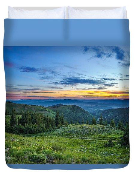Utah Sunrise Above Park City Duvet Cover