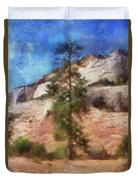 Utah Trees Zion National Park 08 Pa Duvet Cover