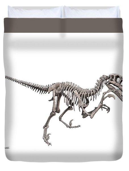 Utahraptor Duvet Cover