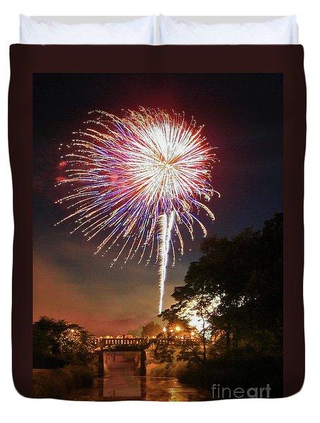 Utica Fireworks Duvet Cover