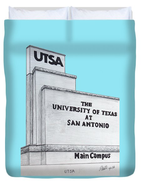 Duvet Cover featuring the drawing Utsa by Frederic Kohli
