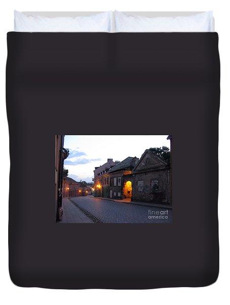 Uzupis Street. Old Vilnius. Lithuania. Duvet Cover
