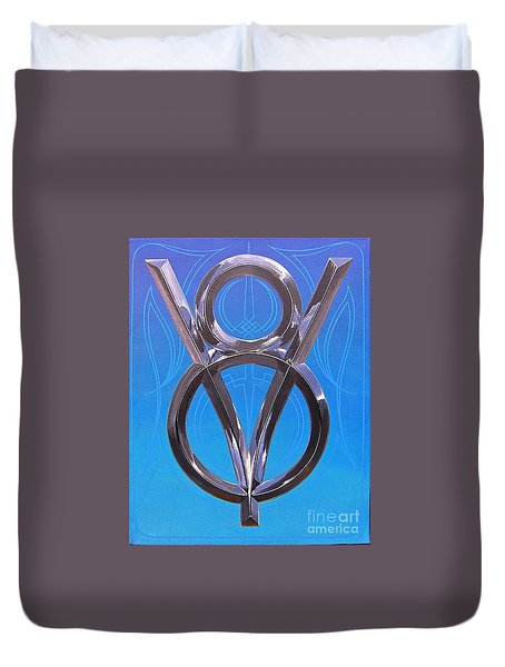 V Eight Power Duvet Cover
