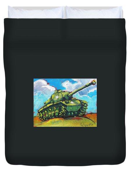 V. F. W. Tank Duvet Cover