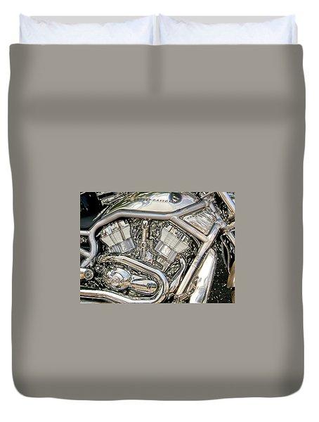 V-rod Titanium Duvet Cover