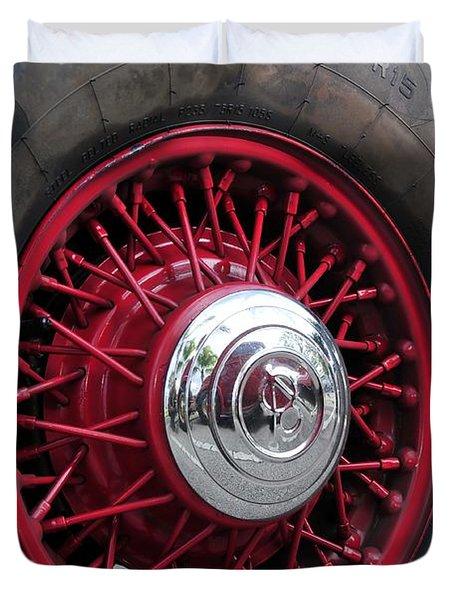 V8 Wheels Duvet Cover by David Lee Thompson