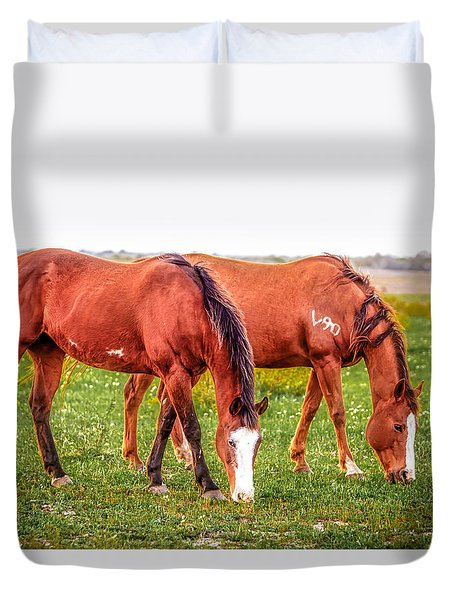 Duvet Cover featuring the photograph V90 Over For Dinner by Melinda Ledsome