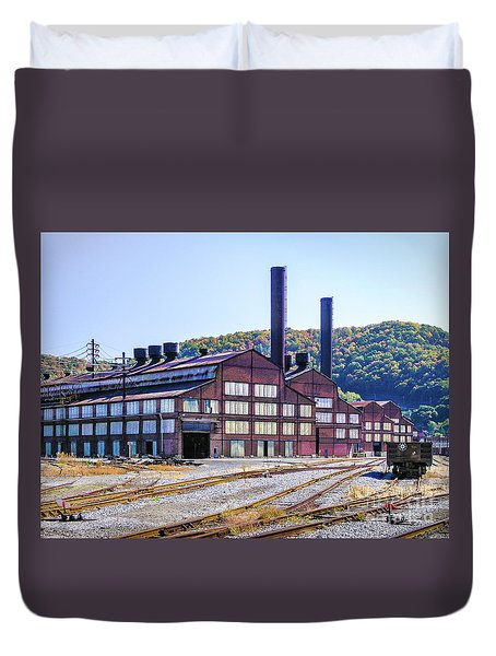 Vacant Steel Mill - Johnstown Pa Duvet Cover