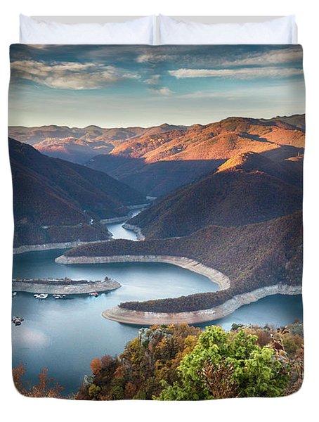 Vacha Lake Duvet Cover by Evgeni Dinev