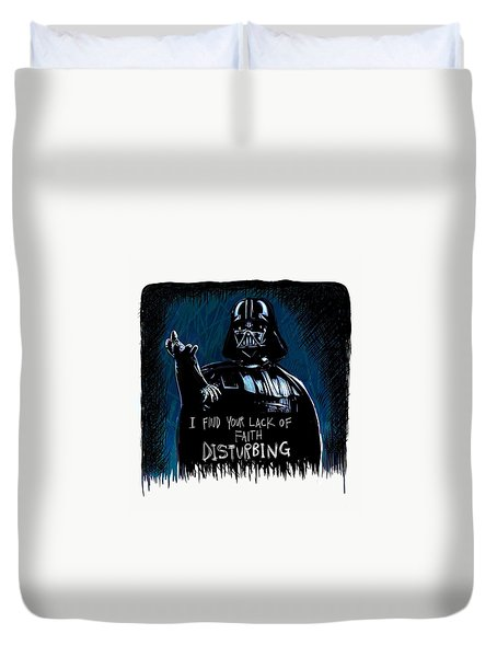 Duvet Cover featuring the digital art Vader by Antonio Romero