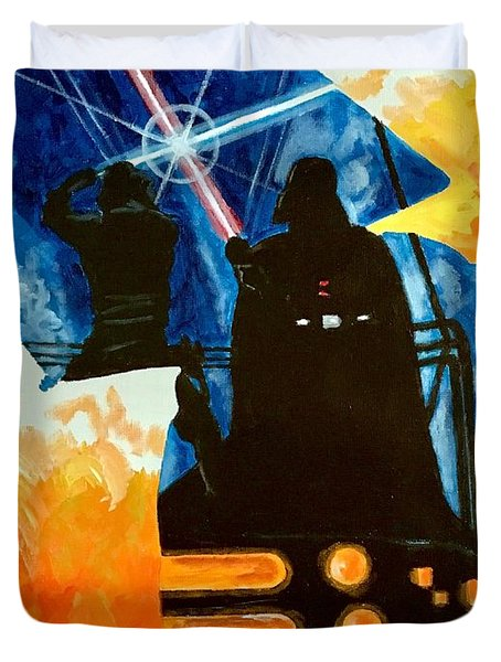 Duvet Cover featuring the painting Vader by Joel Tesch