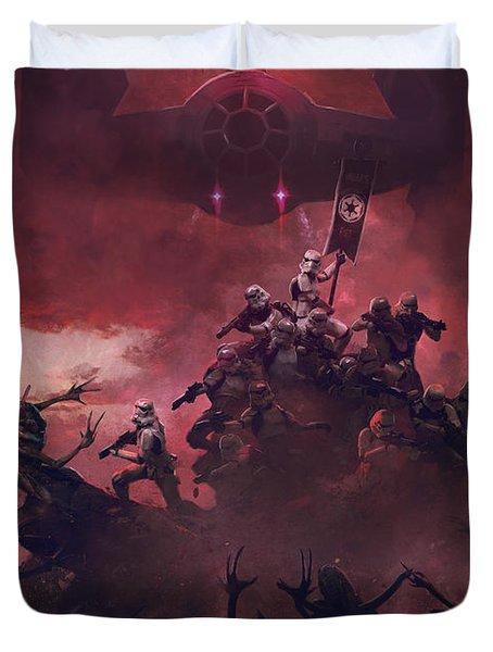 Vader Vs Aliens 2 Duvet Cover