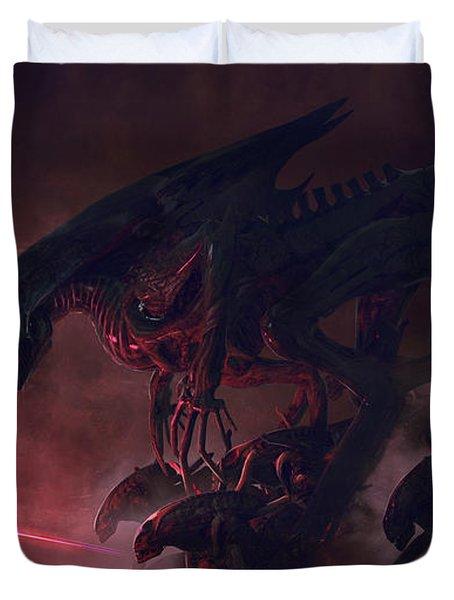 Vader Vs Aliens 4 Duvet Cover