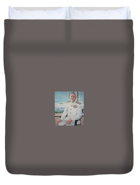 Vadm Robert Claude Simpson-anderson Duvet Cover by Tim Johnson