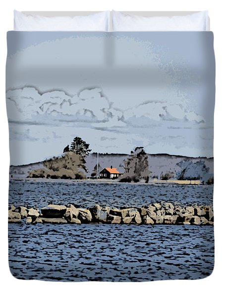 Vaennern Lake Duvet Cover