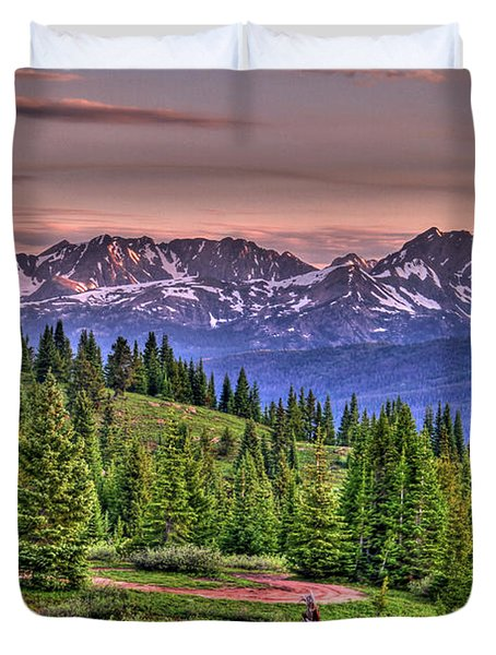 Vail View Duvet Cover by Scott Mahon