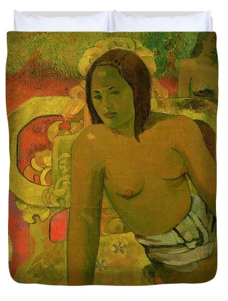 Vairumati Duvet Cover by Paul Gauguin