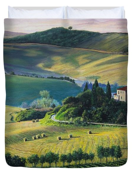 Val D'orcia Duvet Cover by Richard Barone