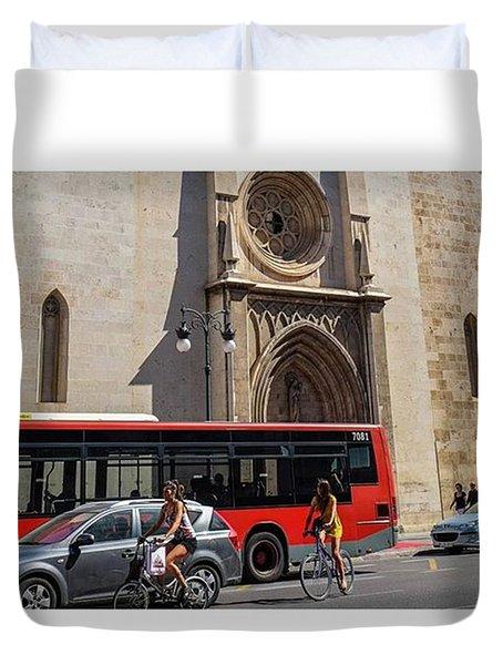 Valencia, Spain.  #fuji #myfujifilm Duvet Cover by Marcelo Valente