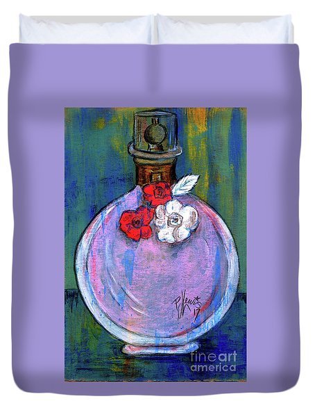 Duvet Cover featuring the painting Valentina by P J Lewis