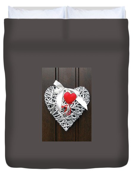 Duvet Cover featuring the photograph Valentine Heart by Juergen Weiss