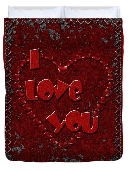 Duvet Cover featuring the digital art Valentine Love by Michelle Audas