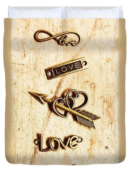 Valentine Pendants Duvet Cover