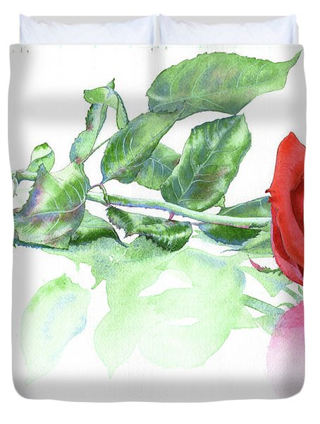 Valentine Rose Duvet Cover