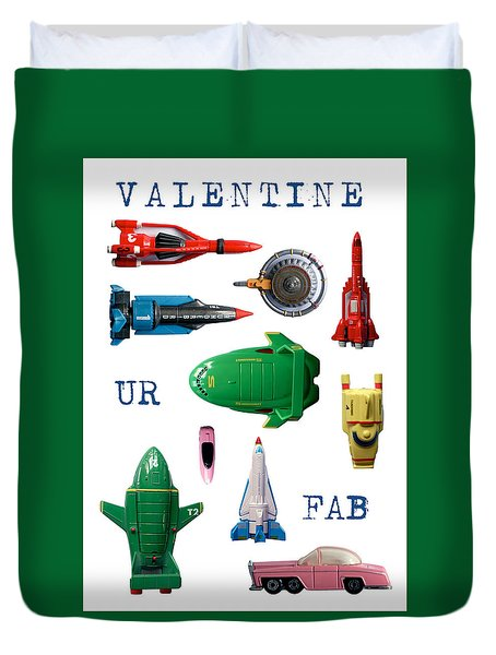 Valentine Ur Fab Duvet Cover by John Colley