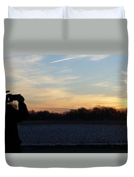 Valentines Sunrise Duvet Cover