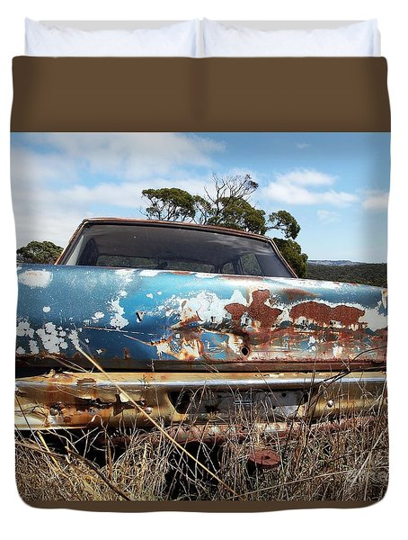 Duvet Cover featuring the photograph Valiant View by Stephen Mitchell