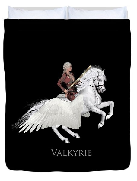 Duvet Cover featuring the painting Valkyrie by Valerie Anne Kelly