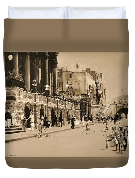 Valletta Entrance 1935 Duvet Cover
